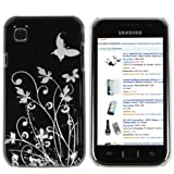 Mumbi - Cover per Samsung Galaxy S PLUS i9001 / Samsung Galaxy S i9000, motivo floreale con farfalle, retro rigido
