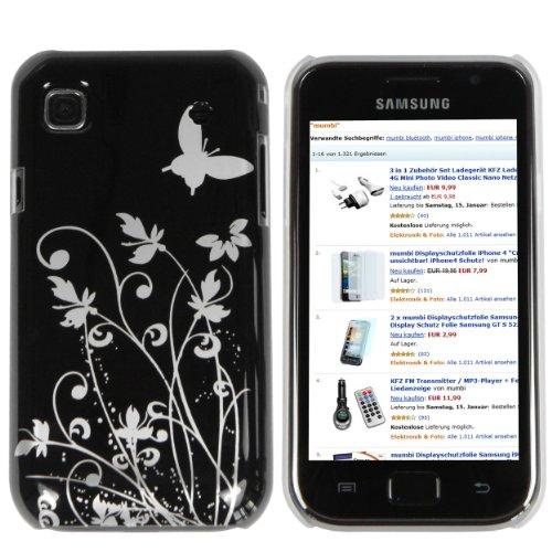 Mumbi - Carcasa para Samsung Galaxy S PLUS i9001 y Samsung Galaxy S i9000, diseño de flores y mariposas