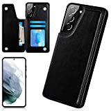 Galaxy S21 Plus Case, iMangoo for Samsung S21 Plus Case 5G Wallet Case PU Leather ID Credit Card Slot Cash Pocket Card Holder Magnetic Closure Flip Cases for Samsung Galaxy S21 Plus Black