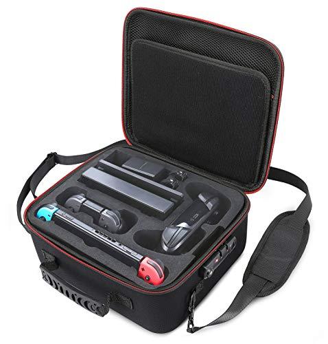 Locking Carry Case for Nintendo Switch Hardshell Deluxe Bag w/ Anti-Theft TSA Combination Lock