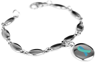 Custom Engraved Teal Awareness Bracelet - 316L Steel