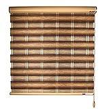 LIQICAI Estor Enrollable Doble, Impermeable Tejido Noche y Día Persiana Enrollable para Ventanas Puertas Dormitorios Oficinas con Instalar Hardware Fácil de Instalar Tamaño Personalizable, marrón