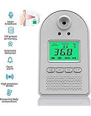 Termómetro Digital De Infrarrojos, Sin Contacto Termómetro Automática LED con Difusión De La Voz Fiebre Alarma 100 Conjuntos De Memoria De Datos 0.5S Función De Medición Precisa