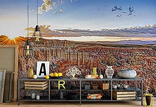 3D behang mooie bergen en rivieren, modern wandbehang, gepersonaliseerd fotobehang, 300 cm x 210 cm