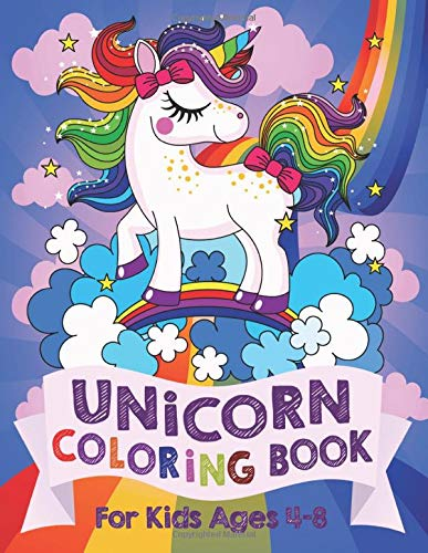 Product Image of the Unicorn Coloring Book