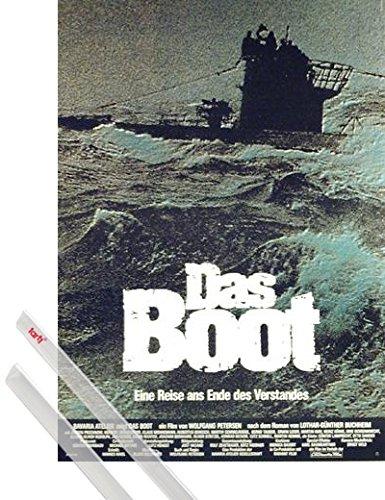 1art1 Das Boot Poster (84x59 cm) Jürgen Prochnow, Herbert Grönemeyer Inklusive EIN Paar Posterleisten, Transparent