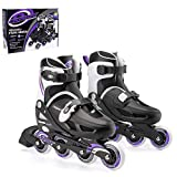 Osprey Girls Kids Roller Blades, Adjustable Inline Skates for Boys Safe Lock Straps