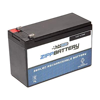 SLA Replacement Battery for 12V 9.5AH T2 Battery- AGM SLA Battery- Maintenance Free- Zipp Battery