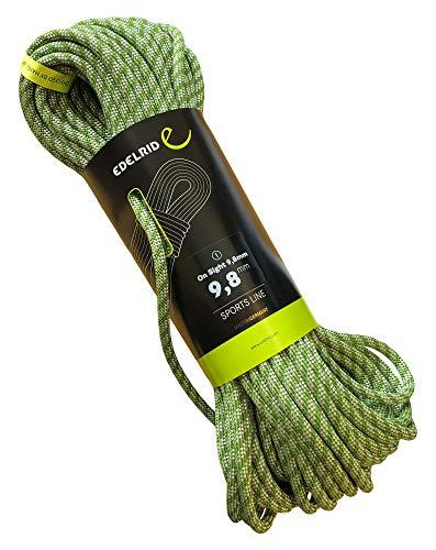 EDELRID Kletterseil On Sight 9,8 mm (dynamisches Einfachseil), Länge:30 Meter, Farbe:Green