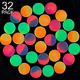 Best Bouncy Balls - Gejoy 32 Pieces Bouncy Balls, ICY Balls Review