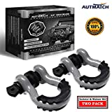 AUTMATCH Shackles 3/4' D Ring Shackle (2 Pack) 41,887Ib Break Strength with 7/8' Screw Pin and Shackle...