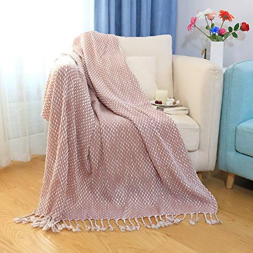 BASA Manta,Manta de Punto de Cachemir de imitación Manta de Cama Final Manta de sofá Manta de Dormir cómoda
