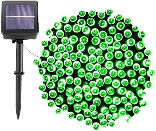 Luci natalizie a energia solare, 200 LED, 8 modalità, impermeabile, per interni ed esterni, decorazione commerciale, giardino, cortile, festa di nozze, festa (verde)