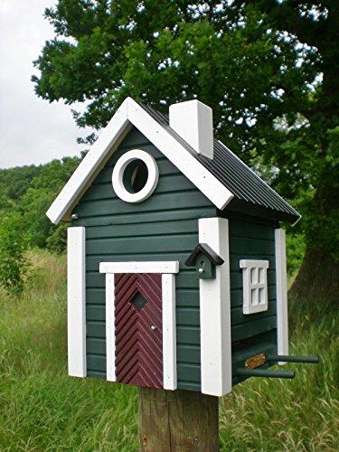 Wildlife Garden MULTIHOLK Vogelhaus JAGDHAUS 2in1 Nistkasten und Futterhaus SCHWEDEN Stil