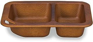 正和(Showa) ランチプレート アウトドアプレート 仕切り 木目 樹脂 ライトブラウン 電子レンジ・食洗機OK NH home 日本製 軽い 割れにくい 食器 アウトドア 76820