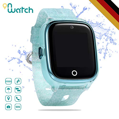 ON WATCH Smartwatch Kinder GPS + WiFi + Lbs + Agps mit SIM Karte, Kamera, wecker, chatten, Aktivitätstracker und vieles mehr Uhr mädchen um Ihre Kinder im Auge zu behalten (Grün)