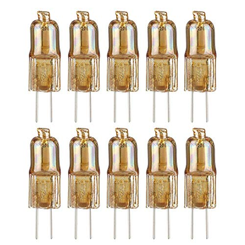 10 x Paulmann Halogen Stiftsockellampe 10W G4 12V Gold Goldlicht extra warmweiß 2300K dimmbar (10 Watt)