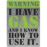 私はガスを持っています 金属板ブリキ看板警告サイン注意サイン表示パネル情報サイン金属安全サイン