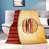 Gandharva Hamburger Blanket Comfort Soft Warm Throw Blanket for Sofa Chair Bed Office Air Conditioning Blanket Flannel Plush Blanket for Adult 80x60in