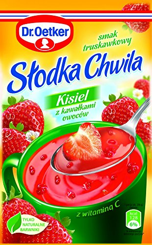 Dr.Oetker Süßer Moment - Gelee mit Erdbeeren Geschmack und Fruchtstücken 31,5g