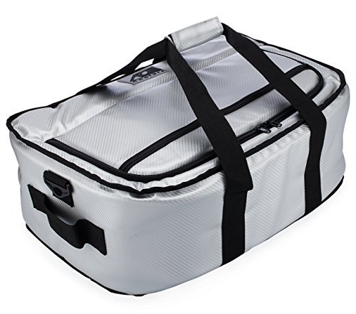 AO Coolers Stow-N-Go Cooler Carbon Silver 38 Pack [並行輸入品]