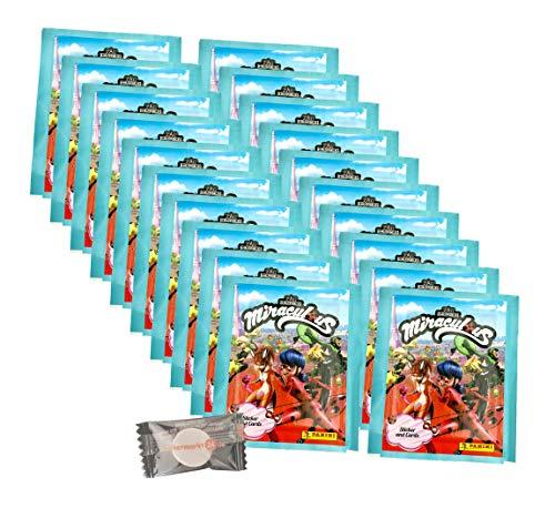 Miraculous Ladybug (2020 - Panini Sticker & Trading Cards - 20 Tüten + stickermarkt24de Gum