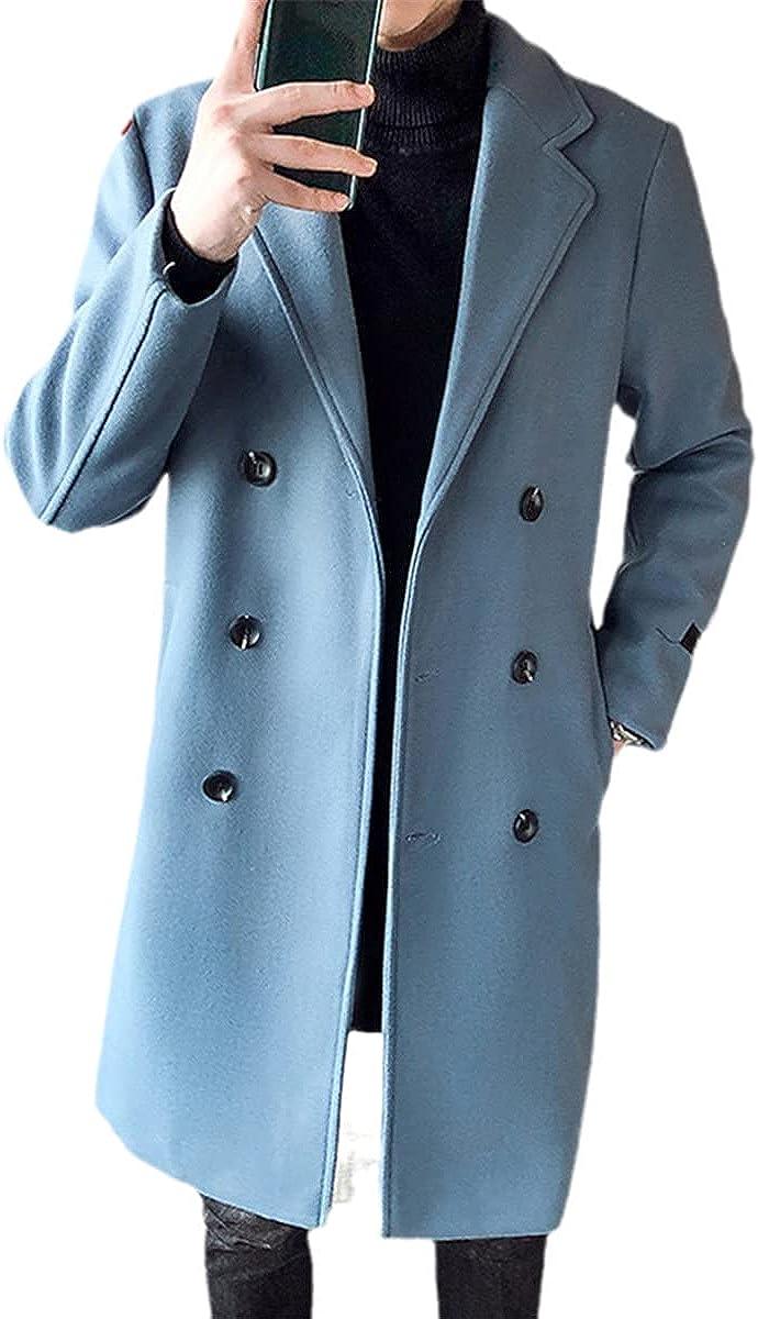 Double-Breasted Pure Wool Men's Jacket Winter Long Coat Men's Jacket Coat