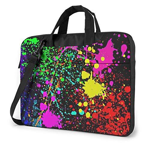 Art Splattering Laptop Bag Maletín a Prueba de Golpes para Hombres, Mujeres, Tableta, Bolso de Mano para Viajes de Negocios, Oficina, 14 Pulgadas