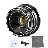 7artisans 25mm F1.8 マニュアルフォーカスレンズ Sony カメラA7 A7II A7R A7RII A7S A7SII A6500 A6300 A6000 A5100 A5000 EX-3 NEX-3N NEX-3R NEX-F3K NEX-5 NEX-5Nに適用するレンズ - ブラック