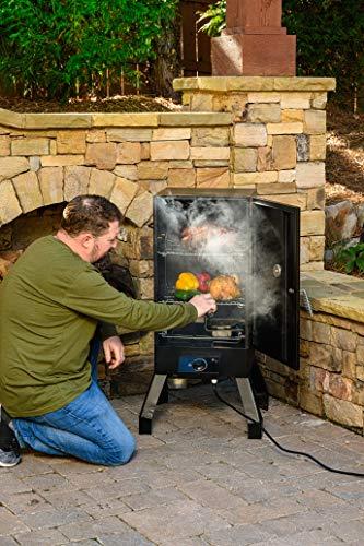 Masterbuilt MB20077618 Analog Electric Smoker with 2 Smoking Racks, 30 inch, Black