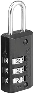 Master Lock 646D Set Your Own Combination Luggage Lock, 13/16 in. Wide with 11/16 in. Long Shackle, Black