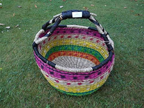 Einkaufskorb Malikorb aus Pflanzenfaser, Malitasche, Korbtasche, (Farbe/Muster von Korbhaus Gesthüsen ähnlich Sortiert)