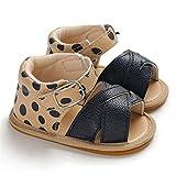 WanXingY Sandalias de bebé para bebés Sandalias Zapatos de Cama de bebé Niños recién Nacidos Mocasines de Cuero (Color : 13 18 Months, Size : B)