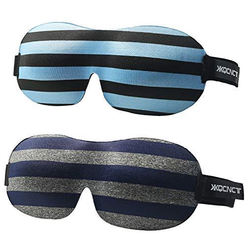 Premium Schlafmaske(2Pack),3D Augenmaske schlafen bequem und weich. Augenmaske für Damen Und Herren mit Gummiband für einen tiefen und erholsamen Schlaf Komplett Dunkelheit gegen Licht Schlafmaske
