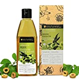 Soulflower Olive Oil, 225ml 100 % Natural Cold Pressed for Skin, Hair