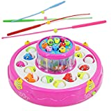 Luxula Rotating Fish Catching Musical Game with 26 pcs Fishes and Lights
