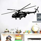 BailongXiao Nuevo patrón de helicóptero Militar Etiqueta de la Pared decoración del hogar Sala de Estar Etiqueta de Fondo Etiqueta de la Pared 127x45 cm