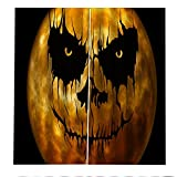 FACWAWF Impresión Digital De Halloween Cortinas 3D Sala De Estar Dormitorio Decoración De Halloween Balcón Alta Sombra Anti-Ultravioleta Cortina Insonorizada 2xW168xH229cm