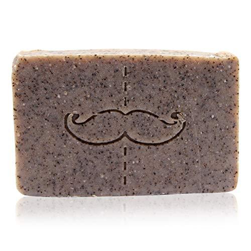 Monsieur Gourmet Seife'Geruchsentferner' - Körperpeeling mit Kaffee - Naturseife mit Peeling zum Duschen - Geschenk für Männer und Frauen