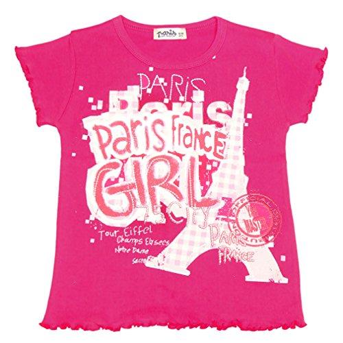 T-Shirt Bébé 'Paris Girl' 6-12 Mois - Rose