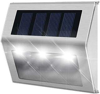 FRCOLOR 4pcs Solar Lights Outdoor 2 LED Solar Wall Light Super Bright Security Lighting for Streets Garden Parking Garage ...