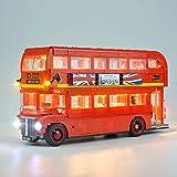 WDLY Kit Illuminazione A LED per London Bus - Compatibile con Lego 10258 Building Blocks Modello- Non Includere Il Lego Set