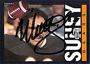 Matt Suhey autographed football card (Chicago Bears) 1985 Topps #35 as pictured sticker on front - NFL Autographed Football Cards