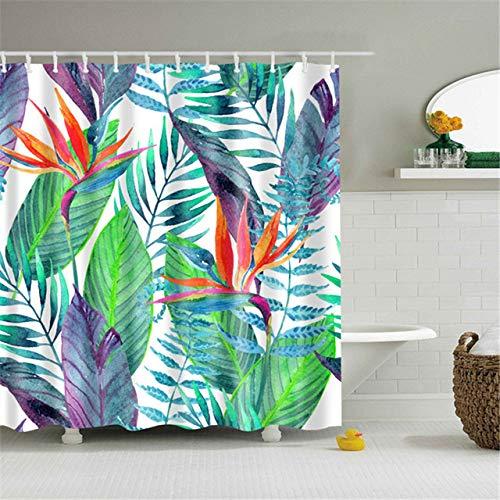 Deirdre Agnes Douchegordijn badkamer met douche bedrukking waterdicht en schimmelbestendig decoratie B90xH180cm