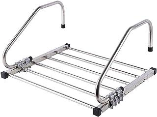 JiaJu Tendedero Colgantes para radiador de Acero Inoxidable, Plegable Ajustable para Colgar en el balcón baño y secar Tender Toallas 61.4x3.9x27.9 cm