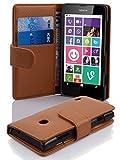Cadorabo Hülle für Nokia Lumia 630/635 in Cognac BRAUN