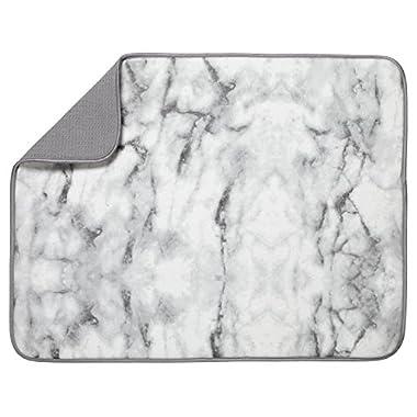 S&T XL Microfiber Dish Drying Mat, 18  x 24 , Marble