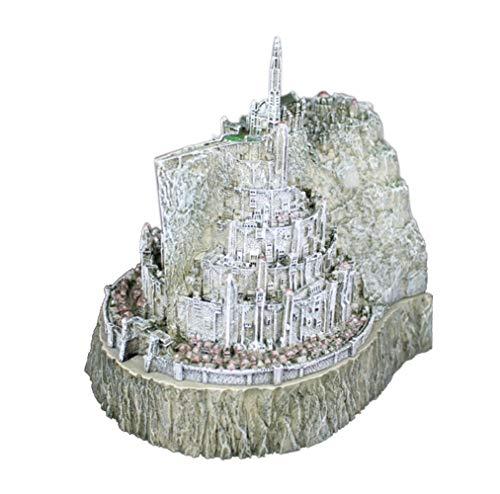 SDBRKYH Escultura de El Señor de los Anillos, Minas Tirith Modelo Cenicero Creativo Estatua Decoración de Escritorio