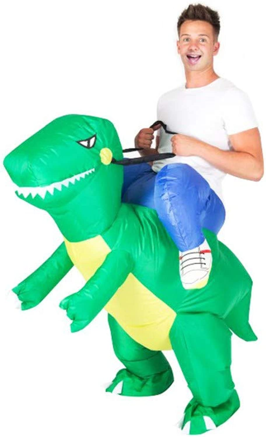 Original Cup Raptor Inflatable Suit, Polyester (Green, Adult Size)