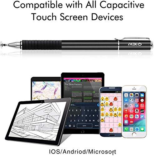MEKO 2 in 1 Kapazitive Precision Disc Eingabestifte für alle Touch-Screen-Smartphones & Tablets (Schwarz/Gold)